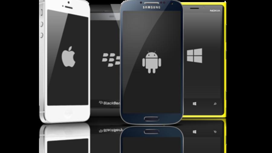 Smartphones neben einander